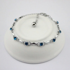 BEAUTIFUL SILVER & CRYSTAL BRACELET IN TURQUOISE **UK SELLER** GIFT PRESENT