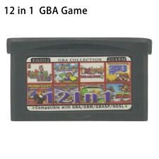 12 in 1 Multicart GBA Game Boy Advance w/ Case Super Mario Advance Kart Wario