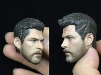 "1/6 Man Head Thor Odinson Sculpt Model Sculpture PVC Fit 12"" PH Body Figure Boy"