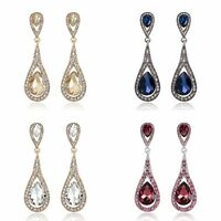 Women Fashion Earrings Pendant Bridal Wedding Dress Vintage Earrings Crystal