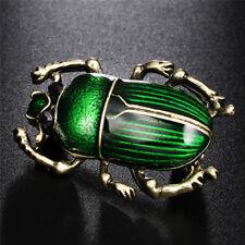 Vintage Lady Brooch Beetle Enamel Animal Insect Shirt Brooch Pin Women 9y Blue