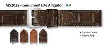 Hadley Roma Genuine Matte Alligator 20mm Chestnut Watch Strap Free Shipping