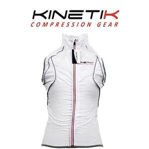 Kinetik Compression Gear Super Light Sleeveless White Jacket Unisex Size Small