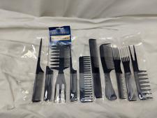Hair Comb Set Dark Blue 10 pcs Assorted in Plastic Roll-Up Case Aristocrat AR-10