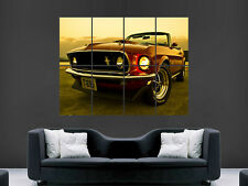 MUSTANG 1969 CONVERTABLE CLASSIC CAR LARGE  WALL PICTURE POSTER GIANT HUGE ART