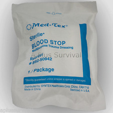 Lot of 100 - Blood Stopper Trauma Dressing First Aid Kit Sterile Extra Absorbent