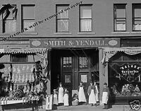 Historical Photograph of 1903 Detroit Butcher Shop Smith & Yendall  8x10