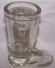 VINTAGE ORIGINAL CLEAR GLASS SANTA BOOT CANDY CONTAINER-#12