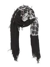 Chan Luu Cashmere and Silk Scarf in Black White Tie-Dye Print - Brand New