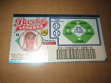 1999 Ohio RARE Sample Lottery Ticket of Tony Perez of the Cincinnati Reds