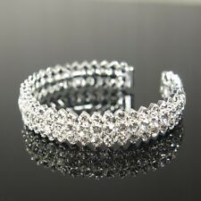 "Bridesmaid 9ct 9K "" Gold Filled "" made with Swarovski Crystal Bracelet  b2206"