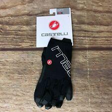 Castelli Cycling Unisex Size Large Black Unlimited Long Finger Gloves NEW *45200