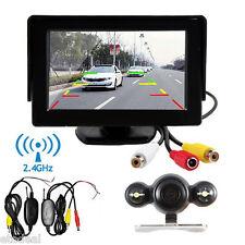 "Wireless Car Rear View System Backup Camera Night Vision+ 4.3"" TFT LCD Monitor"
