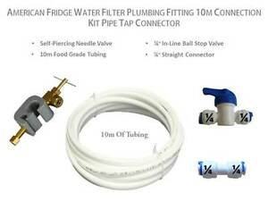 American Fridge Water Filter Plumbing Fitting 10M Connection Kit Pipe Connector