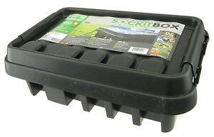 Dribox Medium Black 285 Weatherproof Enclosure Box for Outdoor Electrical Items