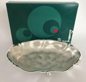"Vintage WMF IKORA GERMANY  Brushed Silverplate FOOTED MINT DISH W/BOX  6"" X 9"""
