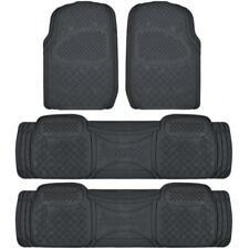 Full Set Floor Mats for Chrysler Town & Country, 4 Piece 3 Row Black Semi Custom
