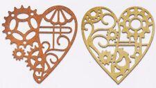 STEAMPUNK HEART Set Craft Steel Die Cutting Dies CHEERY LYNN DESIGNS CABD99 New