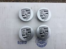 PORSCHE MACAN 95B NEW OEM FACTORY GENUINE ORIGINAL BLACK/SILVER CENTER CAP SET