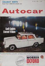 Autocar magazine 12 July 1963 featuring SAAB 95 road test