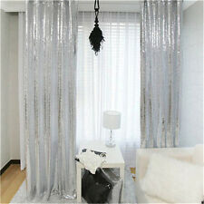Best Price 4ft*7ft Bling Sequin Backdrop Photo Booth Holiday Wedding - Silver