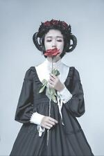 Gothic Lolita Sheep Ears Horn with Rose Lace KC Hairpin Hair Accessories Party