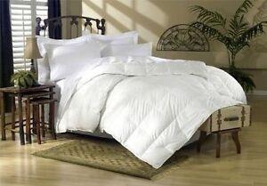 LUXURIOUS Stitch Box Oversized All Season White Goose Feather Down Comforter