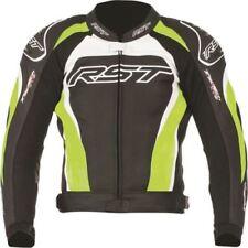 Blousons verts RST en cuir pour motocyclette
