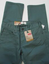 Levi's 511 Slim Fit Waterlog Green Jeans Size 12 Reg (26 X 26 )