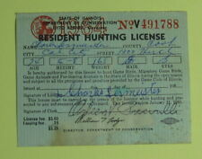 1964 Illinois Department of Conservation Resident Hunting License.Free Ship!