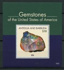Antigua & Barbuda Minerals Stamps 2016 MNH Gemstones of USA Opal 1v S/S