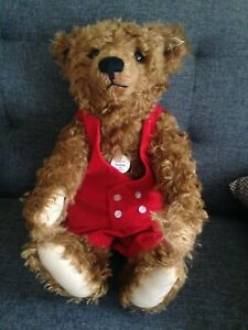 Steiff Mohair 1905 Replica Bear 18 inches tall with clothes