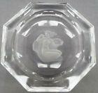Vtg Signed Orrefors SVEN PALMQVIST Engraved Female Nude Octagonal Crystal Bowl