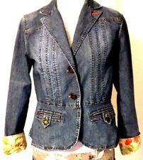 BANDOLINO RN 57803 – Women's Stretch Denim Blazer Style Jacket - Size: 6