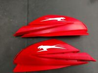 New Arctic Cat SET PAIR HAND RED AND WHITE HAND GUARDS 4639-527 GUARDS BM