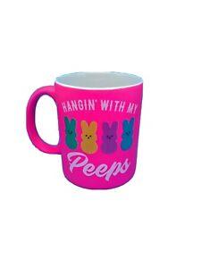 Peeps Candy Hot Pink Rare Hanging With My Peeps Coffee Mug Easter Bunnies