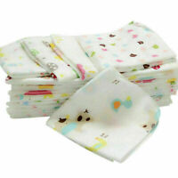 10X Baby New Born Gauze Muslin Square Cotton Bath Wash cloths bibs Towel 25*25CM