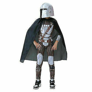 2021 Kid's The Mandalorian Cosplay Costume Jumpsuit Cloak Cape Halloween Outfit
