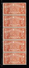 Excise Revenue Stamps Strip Of 5 5d All Unmounted Mint Full Gum ( For Condi