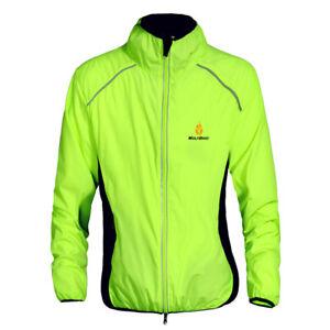 Mens Cycling Jersey Long Sleeves Waterproof Wind Coat Reflective MTB Bike Jacket