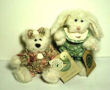 "Boyds Bears Laurel S. Berrijam & Fern Blumenshine Euc 6"" Floral Rompers Lot - 2"