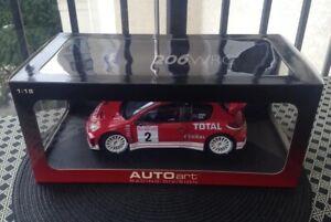 Richard Burns Peugeot 206 WRC Monte Carlo 2003 1/18 Rare Autoart No Spark Rally