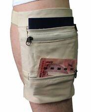 Travel Money Belt Safe Card Money ID Passport Wallet Leg Zip Bag Hide Strap Men