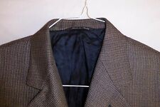 New$1350 Canali 40L Tan/Navy S/B Silk/Wool Mens Sport Coat Nordstrom Italy e50