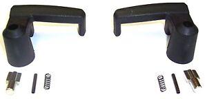 1980-1997 Ford Truck Van Ranger Bronco II black vent window handles & knobs, pr