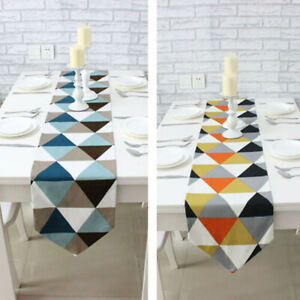Home Table Runner Geometric Pattern Dining Room Party Decor Tablecloth Cover