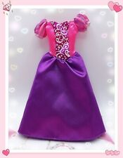 Disney Barbie Gown Tangled Princess Rapunzel Purple Pink Hard To Find Dress