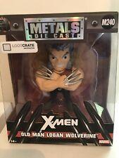 Metal Die Cast Old Man Logan Wolverine M240 LootCrate Exclusive Figure Marvel