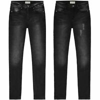 Womens Slim Skinny Jeans Mid Rise Fit Faded Black Stretchable Ladies Jean Pants