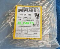 10pcs SF188E SEFUSE Cutoffs NEC Thermal Fuse 192°C Celsius Degree 10A 250V